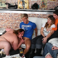Fat fucking goes down at this vast party with sluts & guys getting crazy steamy