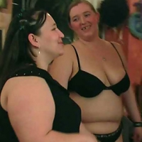 Incredible CHUBBY sex as the chicks get naked and do it all in the pub with wet pussies all over
