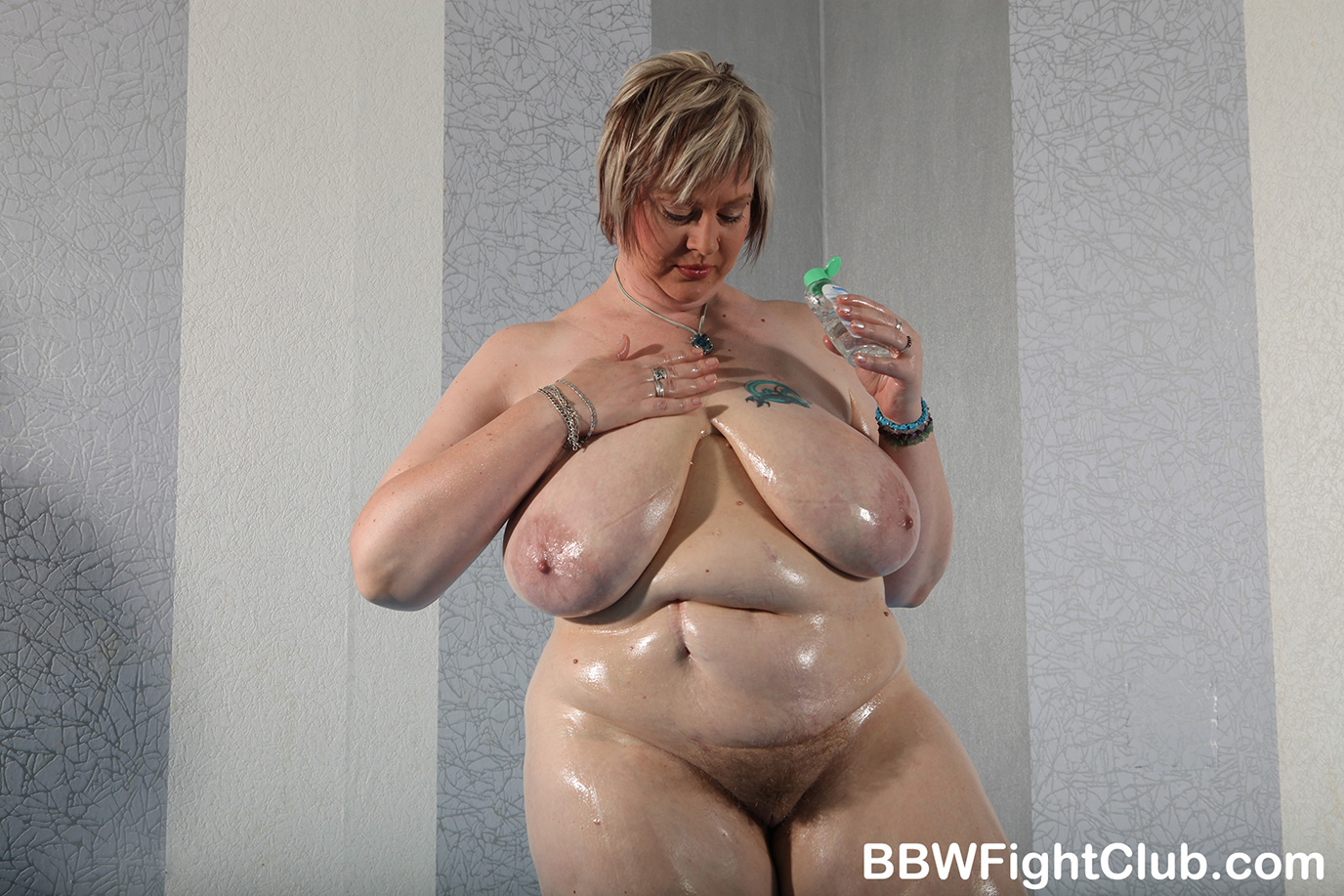 Naked fatties monika and jitka wrestling at bbw fight club 7