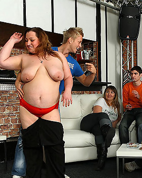 Hot Bbw party girls are drunk and letting the young dudes have their way with them