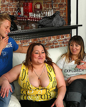 Hot CHUBBY party girls are drunk & letting the young guys have their way with them