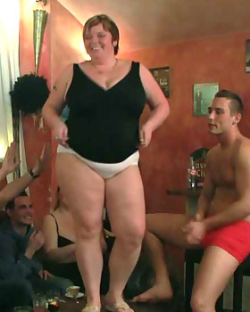 Incredible CHUBBY sex as the chicks get bare naked & do it all in the pub with wet pussies all over