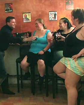 He finds her CHUBBY sex-hole wet and tight & then he cums on the generous mamas of the drunken party slut